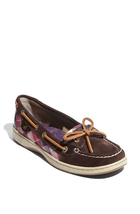sperry top sider shoes sperry top sider angelfish boat shoe in brown brown suede