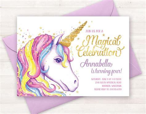 unicorn birthday invitation word template unicorn birthday invitations unicorn birthday invitations