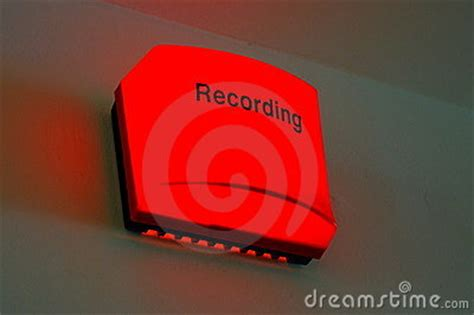 recording in progress light recording in progress stock photo image 9270640