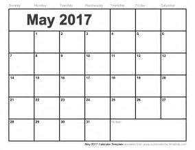 may 2017 calendar template weekly calendar template