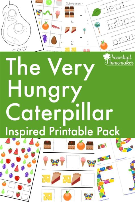 printable children s resources the very hungry caterpillar printable pack proverbial