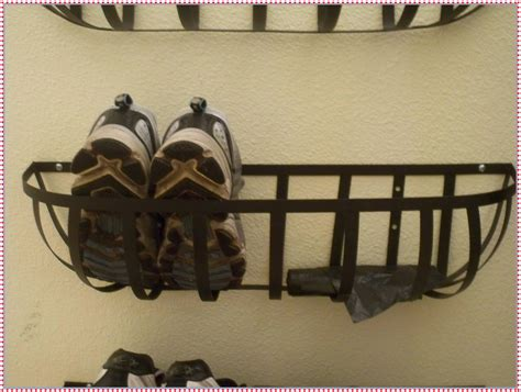 best 25 wall mounted shoe rack ideas on pinterest wall decorating appealing brown iron staining wire wall