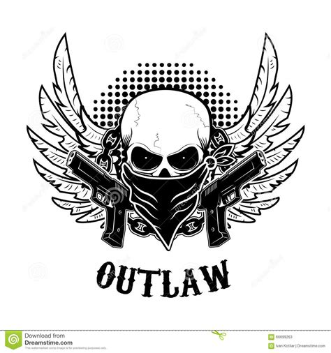 outlaw t shirt print design template stock vector image