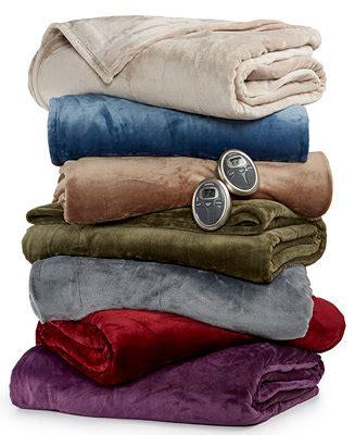 Slumber Rest Electric Blanket by Closeout Slumber Rest Velvet Plush Heated Blankets By