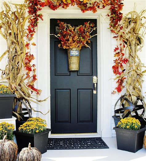 fall cleaning entryway porch