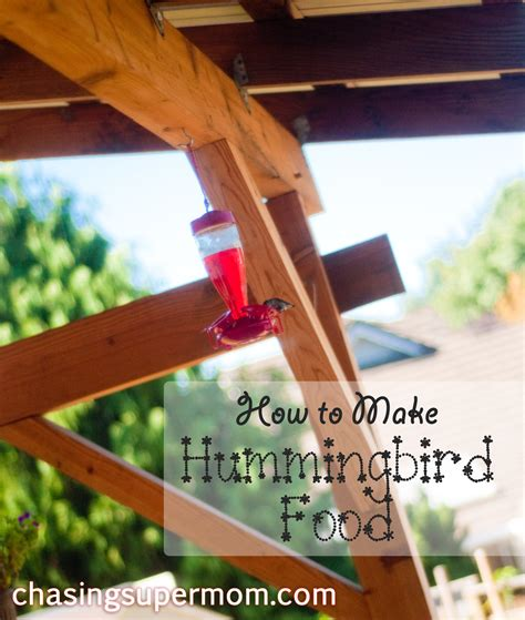 how to make hummingbird food chasing supermom