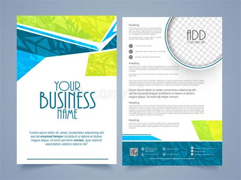 2 page brochure template two page brochure template or flyer for business stock