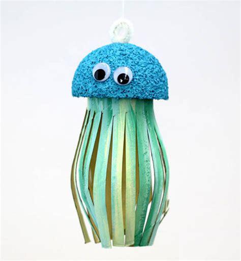 Paper Jellyfish Craft - toilet paper roll jellyfish craft allfreepapercrafts