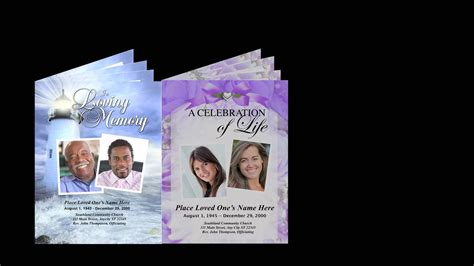 funeral booklets funeral booklet template images