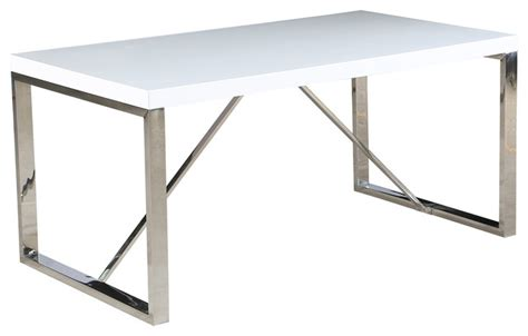 metal bench legs contemporary modern dining table chrome metal legs glossy top on wood
