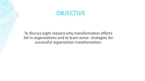 kotter hbr why transformation efforts fail why transformation efforts fail