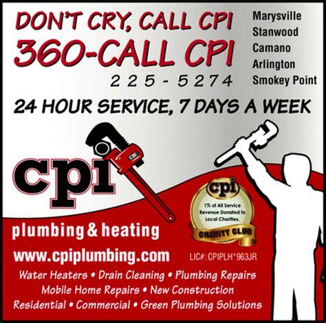 Vernon Plumbing And Heating by Cpi Plumbing Heating Mount Vernon Wa 98273 Yellowbook