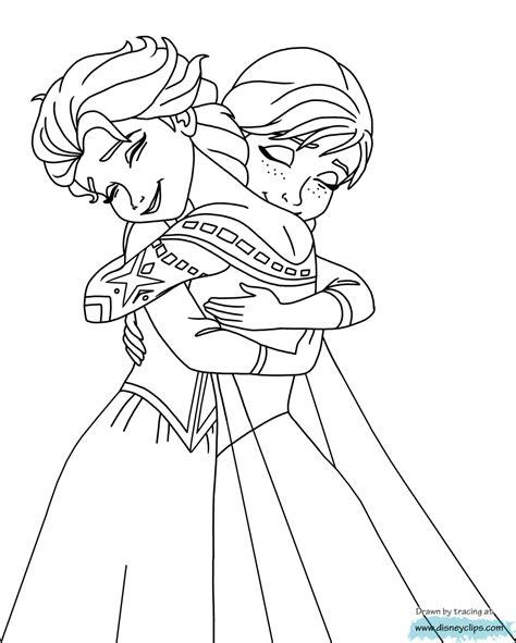 elsa and anna hugging coloring pages reine des neiges elsa et anna coloriage la reine des