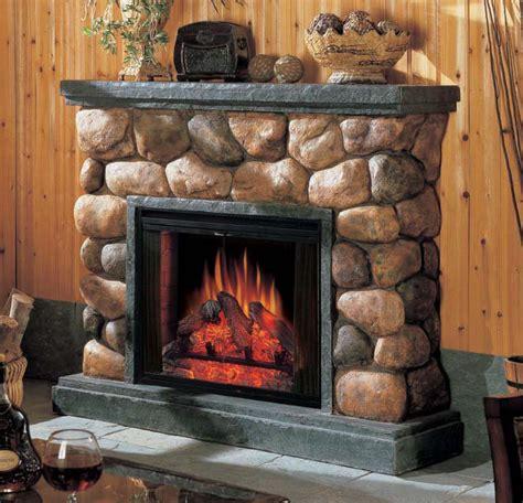 Faux River Rock Fireplace Panels by Fireplaces Betterimprovement Part 11