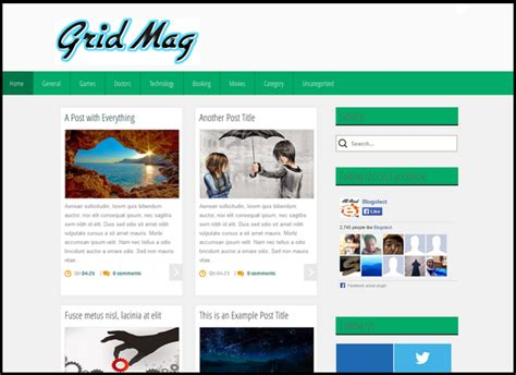 x theme blog template grin mag blogger template double x themes