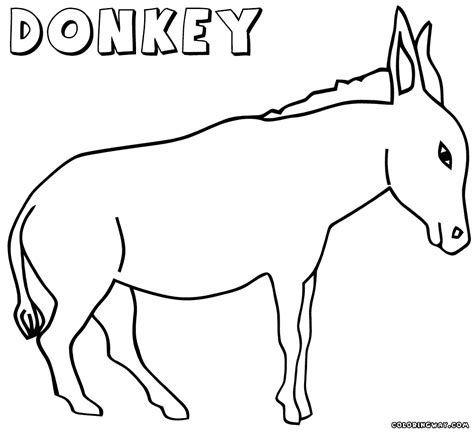 donkey coloring pages coloring pages to download and print
