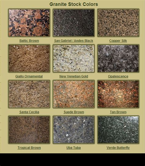 Colors Of Granite For Countertops by Granite Stock Colors Kc Wood