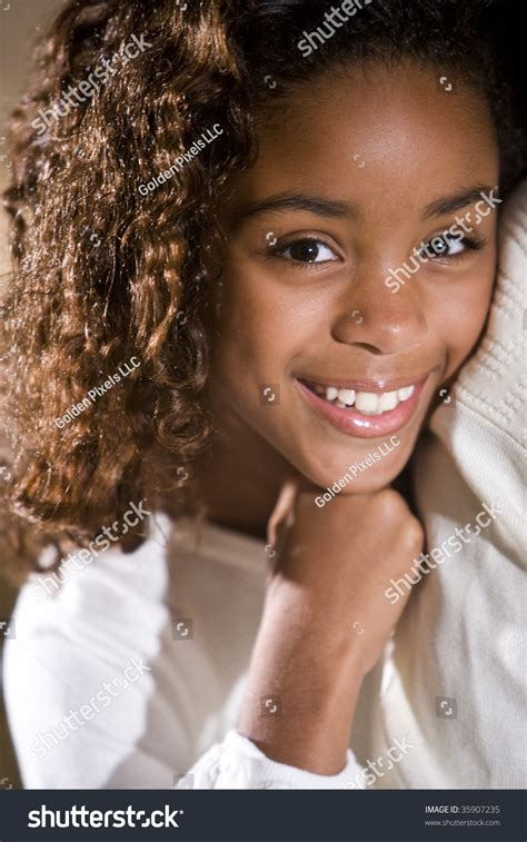 10 year old girl african american close up of pretty african american 10 year old girl stock