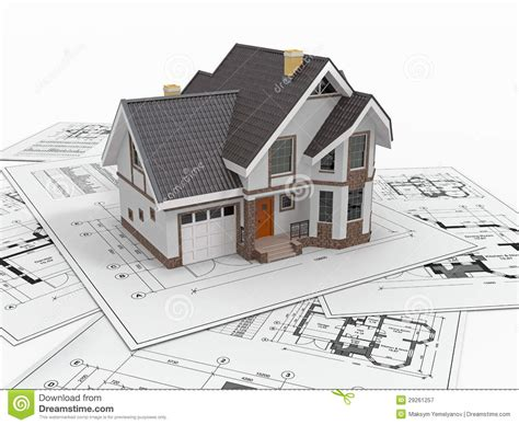 home designer pro blueprints residential house on architect blueprints housing project stock illustration illustration of