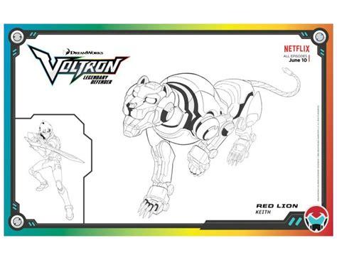 voltron legendary defender red lion coloring page  printables lion coloring pages