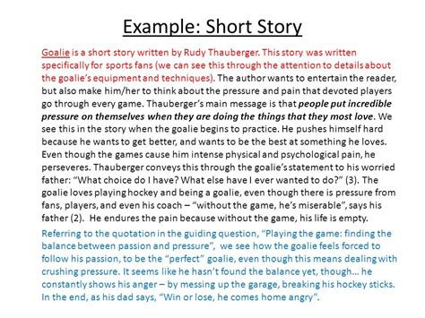 theme exles for short stories response to literature ppt video online download