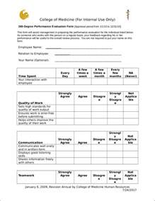 360 degree performance review template how to evaluate an employee s performance free sles