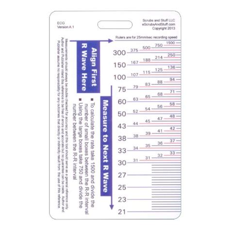 printable ekg ruler ekg ruler vertical badge id card pocket reference guide