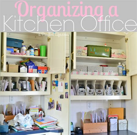 kitchen office organization ideas organizing a kitchen office polished habitat