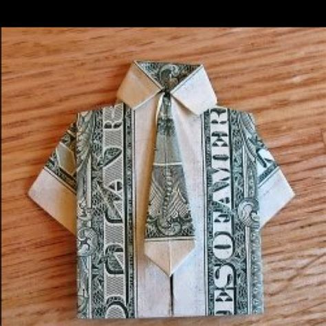Origami Dollar Bill Shirt With Tie - origami shirt and tie for a note crafty diy