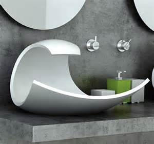 Designer Bathroom Sinks Eaux Eaux Wavelike Bathroom Sink Concept Core77