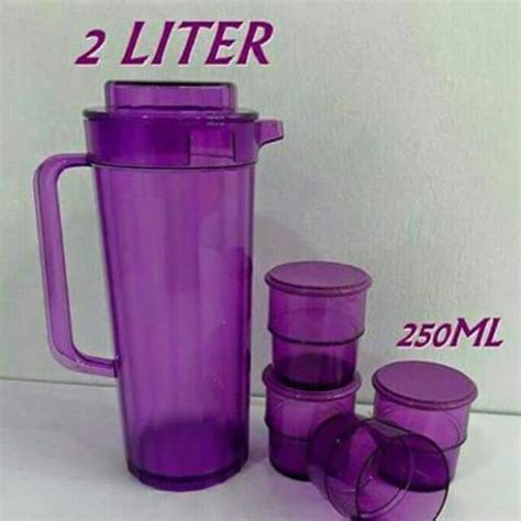Low Glass Tupperware 250ml pitcher set tupperware home appliances on carousell