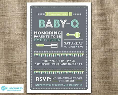 bbq baby shower invitation baby q shower bbq by ellisonreed