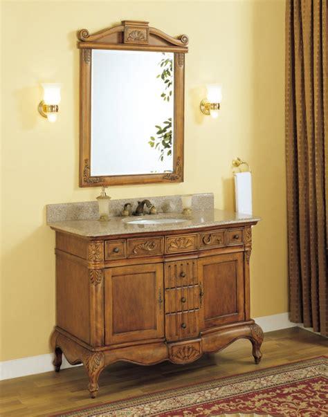 single sink bathroom vanity  peach granite