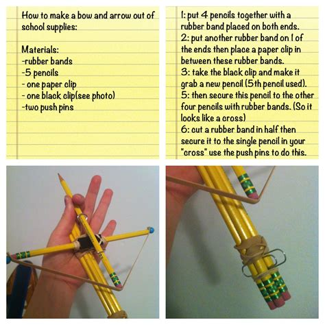 How To Make A Bow Arrow Out Of Paper - how to make a bow and arrow out of school supplies diy