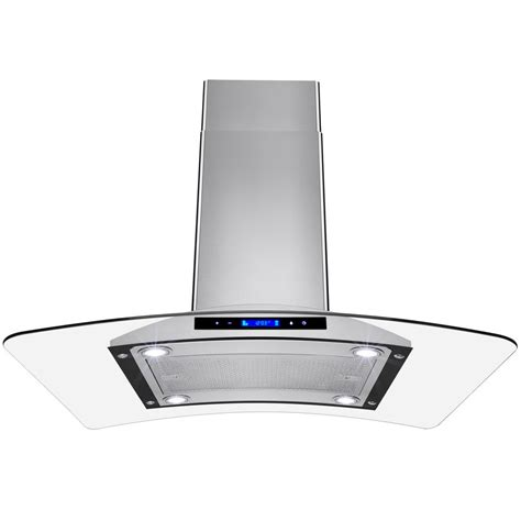 island exhaust hoods kitchen arietta dekor island 36 in island mounted range in stainless steel dki001mx36 the home depot