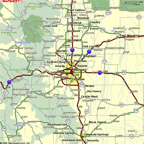 map of denver area denver co suburbs map pictures to pin on pinsdaddy