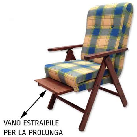 poltrona sdraio poltrona sdraio reclinabile con poggiapiedi in legno di