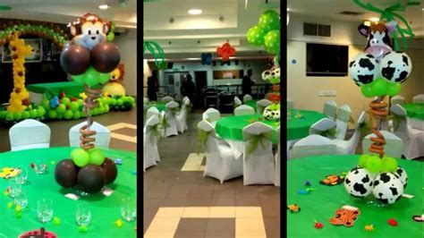 Jungle Theme Balloon Decoration   YouTube