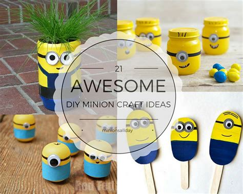 minion craft projects 21 awesome diy minions craft ideas minionsallday