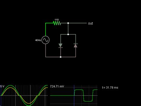 current limiting diode circuit diode limiter circuit simulator