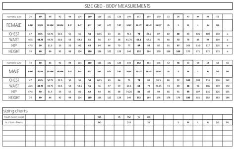 adidas sizing chart world of printables