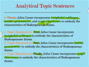 Exles Of Topic Sentences For An Essay by Analytical Five Paragraph Essay Topic Sentences 1