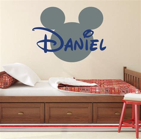 Sale Vintage The Side Of Mickey Mouse Wall Dekorasi 3 sale mickey mouse bedroom bathroom decor wall murals custom personalized name