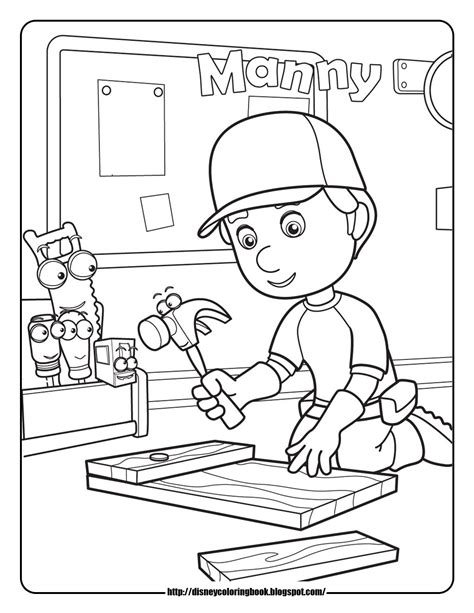 handy manny 1 free disney coloring sheets learn to coloring