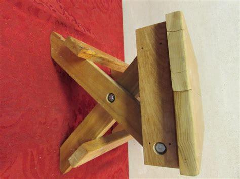 Handmade Wooden Step Stool - lot detail handmade wooden step stool