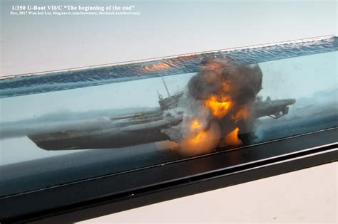 rc boats exploding 1 350 u boat vii c the beginning of the end imodeler