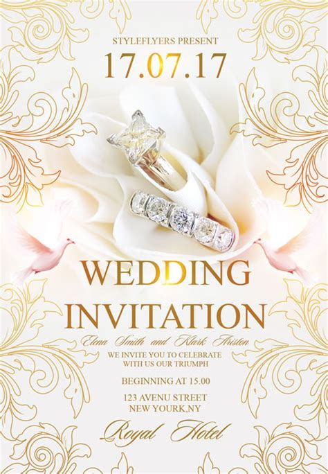 free templates for invitation flyers free wedding invitation flyer template download flyer