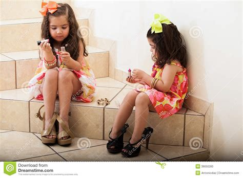 80 best images about cute naughty girls on pinterest little girls putting some makeup on stock image image