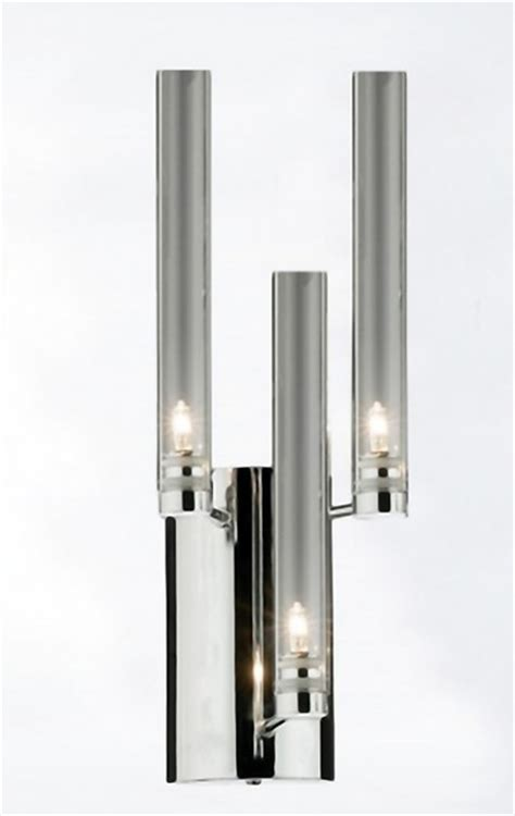 Modern Chrome Sconces Modern Clear Glass And Chrome Wall Sconce Contemporary