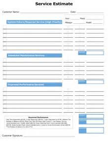 estimate template free auto repair images